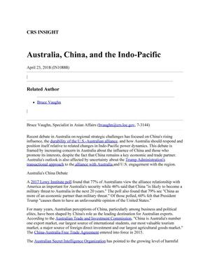 Primary view of object titled 'Australia, China, and the Indo-Pacific'.