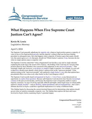 What Happens When Five Supreme Court Justices Can't Agree?