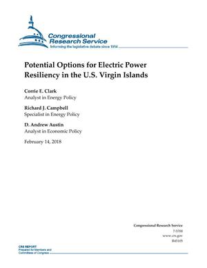 Potential Options for Electric Power Resiliency in the U.S. Virgin Islands