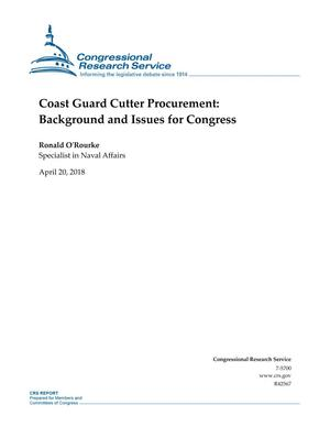 Primary view of object titled 'Coast Guard Cutter Procurement: Background and Issues for Congress'.