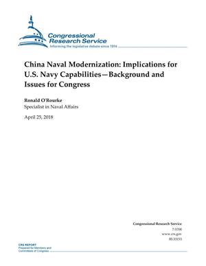 China Naval Modernization: Implications for U.S. Navy Capabilities: Background and Issues for Congress