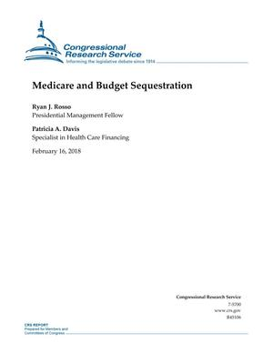 Primary view of object titled 'Medicare and Budget Sequestration'.