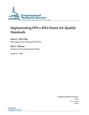 Primary view of object titled 'Implementing EPA's 2015 Ozone Air Quality Standards'.