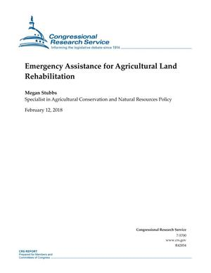 Primary view of object titled 'Emergency Assistance for Agricultural Land Rehabilitation'.