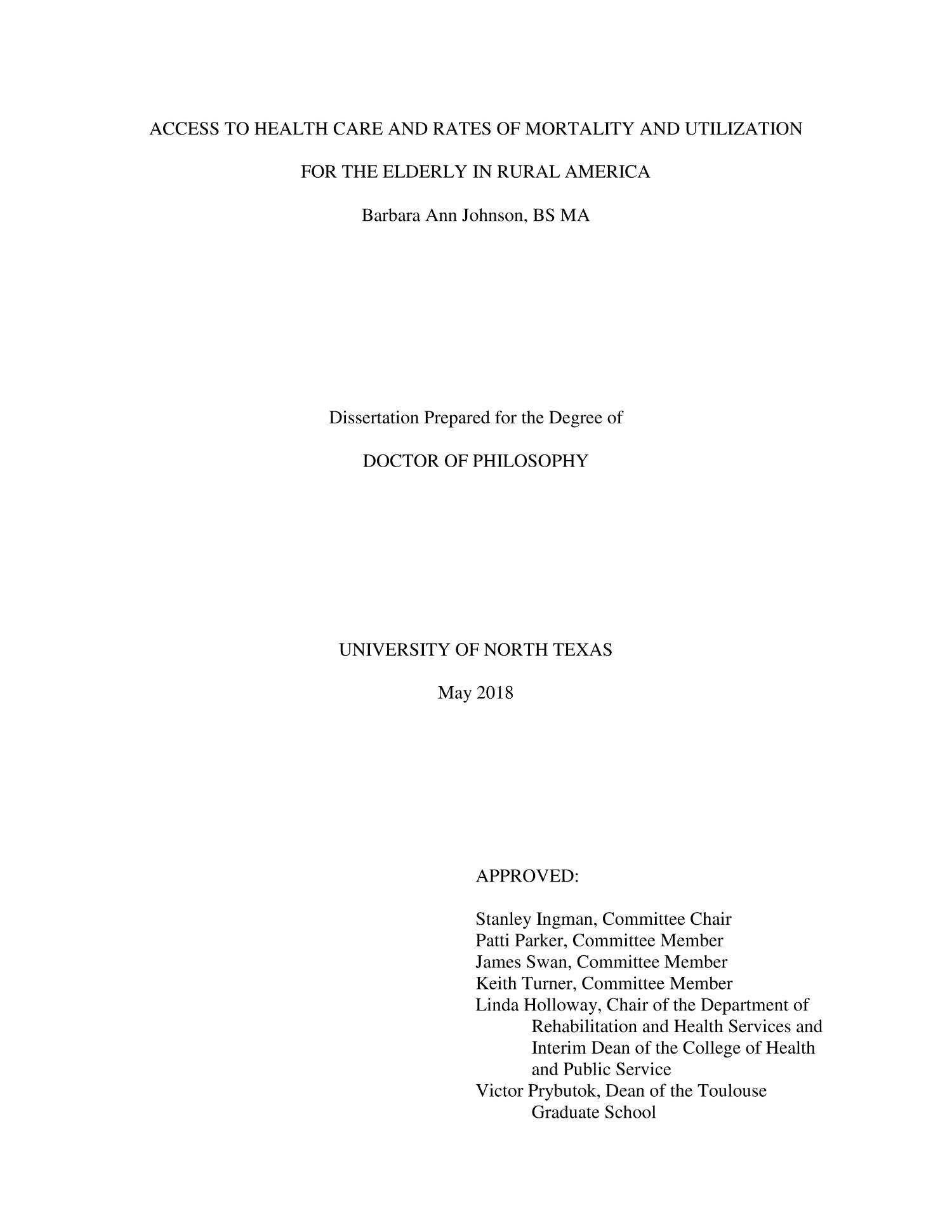 Dissertation of rural libraries