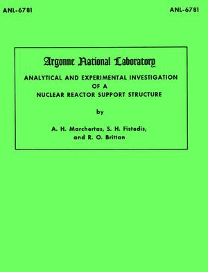 Primary view of object titled 'Analytical and Experimental Investigation of a Nuclear Reactor Support Structure'.