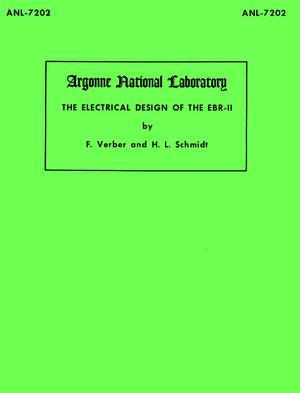 Primary view of object titled 'The Electrical Design of the EBR-II'.