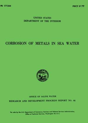 Corrosion of Metals in Sea Water