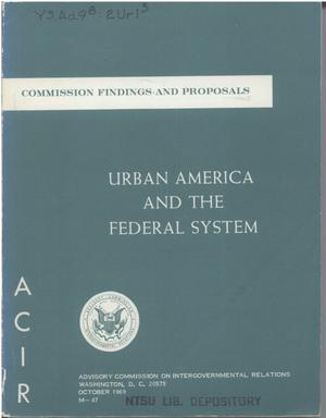 Urban America and the Federal system