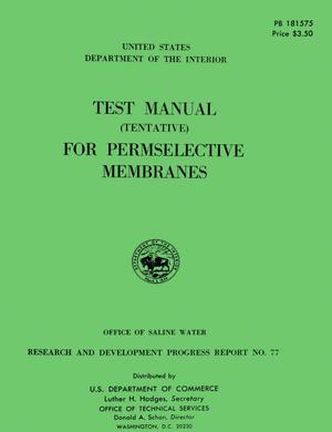 Primary view of object titled 'Test Manual (Tentative) For Permselective Membranes'.