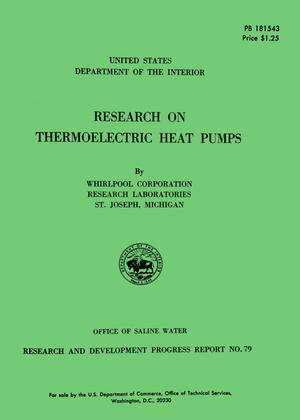 Primary view of object titled 'Research on Thermoelectric Heat Pumps'.