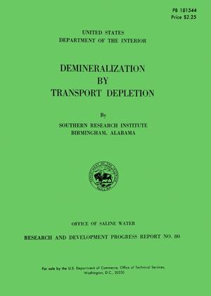 Primary view of object titled 'Demineralization by Transport Depletion'.