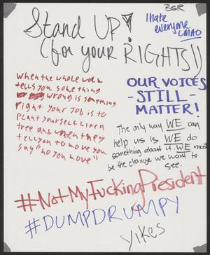 "Primary view of object titled '[White ""Stand Up (for Your Rights)"" poster]'."
