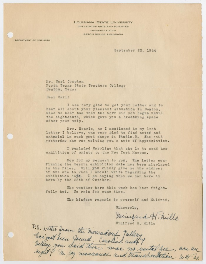 Letter from Winifred H  Mills] - Digital Library