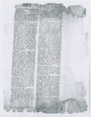 Primary view of object titled '[Article about Rouen]'.