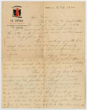 Primary view of object titled '[Letter to Mrs. S. M. Compton]'.