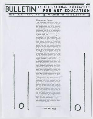 Primary view of object titled 'Bulletin of the National Association for Art Education, Volume 1, Number 9'.