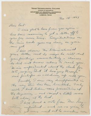 Primary view of [Letter from Robert Ivan Lockard]