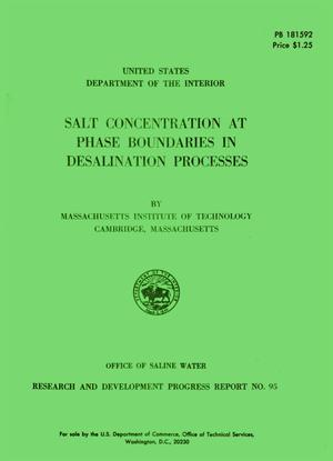 Primary view of object titled 'Salt Concentration at Phase Boundaries in Desalination Processes'.