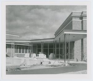 [Music building courtyard under construction, 1960s]
