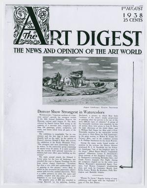 Primary view of object titled '[Page from The Art Digest]'.