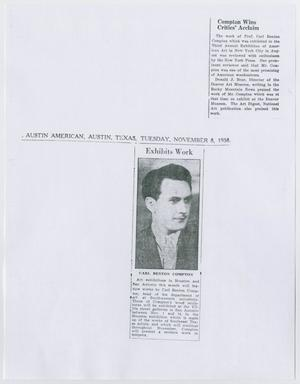Primary view of [Clippings about Carl B. Compton]