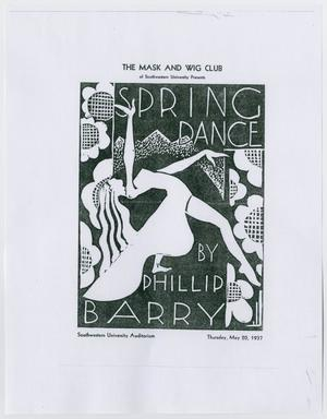 Primary view of object titled '[The Mask and Wig Club Spring Dance advertisement]'.