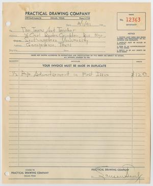 Primary view of object titled '[Advertising invoice]'.