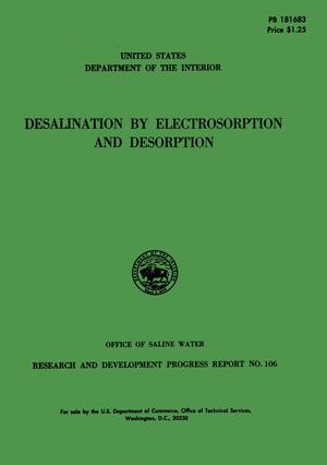 Primary view of object titled 'Desalination by Electrosorption and Desorption'.