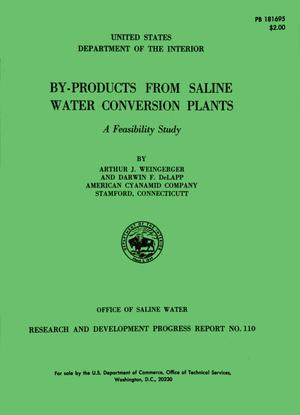 Primary view of object titled 'By-Products from Saline Water Conversion Plants: A Feasibility Study'.