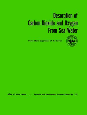 Primary view of object titled 'Desorption of Carbon Dioxide and Oxygen From Sea Water'.