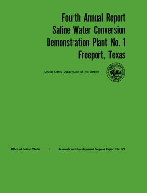 Primary view of object titled 'Saline Water Conversion Demonstration Plant Number 1, Freeport, Texas, Volume 4'.