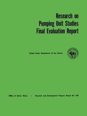 Primary view of object titled 'Research on Pumping Unit Studies: Final Evaluation Report'.