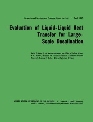 Primary view of object titled 'Evaluation of Liquid-Liquid Heat Transfer for Large-Scale Desalination'.