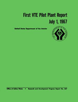 Primary view of object titled 'Vertical-Tube Evaporator Pilot Plant Report, Volume 1, July 1, 1967'.