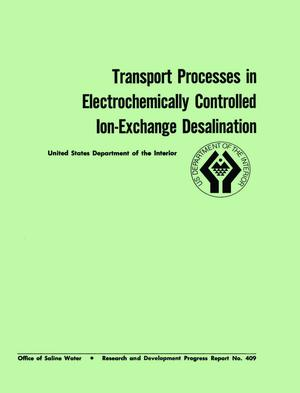 Primary view of object titled 'Transport Processes in Electrochemically Controlled Ion-Exchange Desalination'.