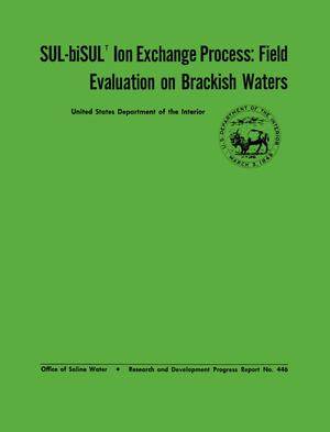 Primary view of object titled 'Sul-BiSul Ion Exchange Process: Field Evaluation on Brackish Waters'.