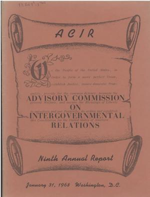 Primary view of object titled '9th Annual Report'.