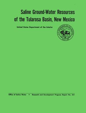 Primary view of object titled 'Saline Ground-Water Resources of the Tularosa Basin, New Mexico'.