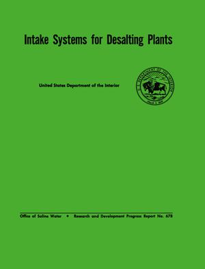 Primary view of object titled 'Intake Systems for Desalting Plants'.