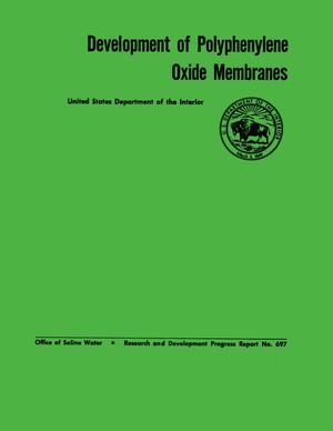 Primary view of object titled 'Development of Polyphenylene Oxide Membranes'.