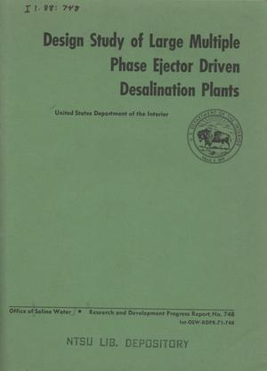 Primary view of object titled 'Design Study of Large Multiple Phase Ejector Driven Desalination Plants'.