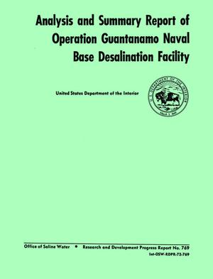 Primary view of object titled 'Analysis and Summary Report of Operation Guantanamo Naval Base Desalination Facility'.