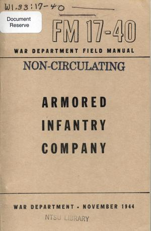 Primary view of object titled 'Armored infantry company.'.