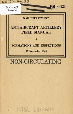 Primary view of object titled 'Antiaircraft artillery field manual : formations and inspections.'.