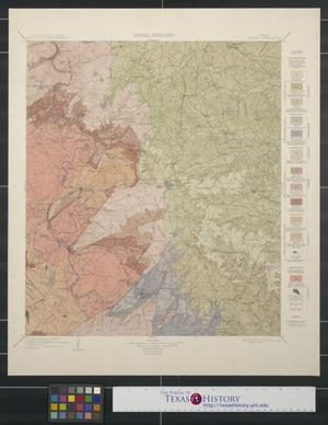 Primary view of object titled 'Areal Geology: Texas Burnet Quadrangle'.