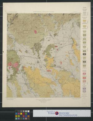 Primary view of object titled 'Historical Geology Sheet: Texas Uvalde Quadrangle'.