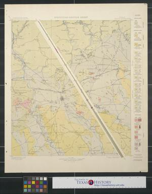 Primary view of object titled 'Structure-Section Sheet: Texas Uvalde Quadrangle'.