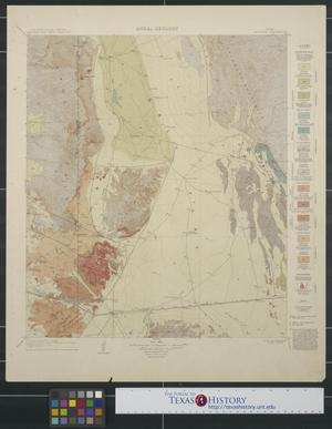 Primary view of object titled 'Areal Geology: Van Horn Quadrangle'.