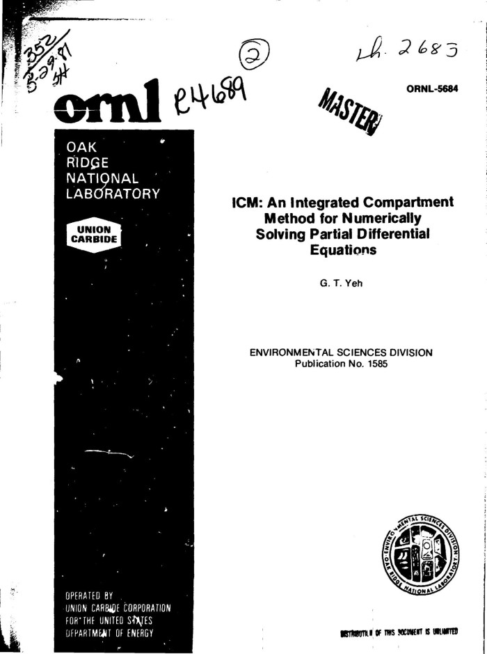 ICM: an Integrated Compartment Method for numerically solving